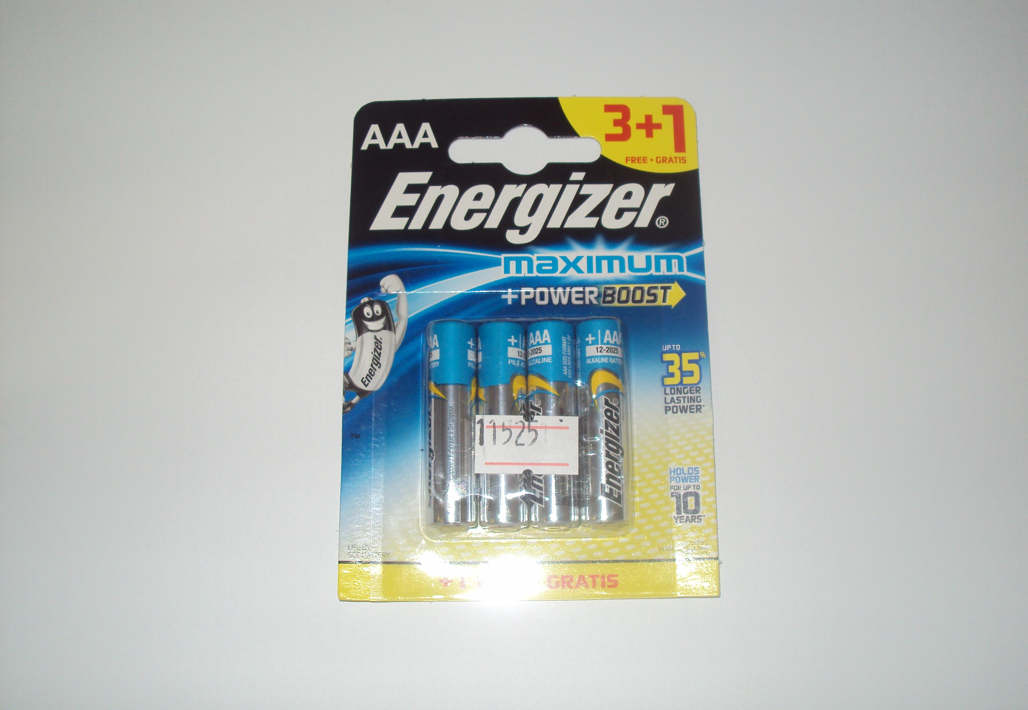 Energizer Maximum Alkaline LR-6/ 3+1/96 (шт.)